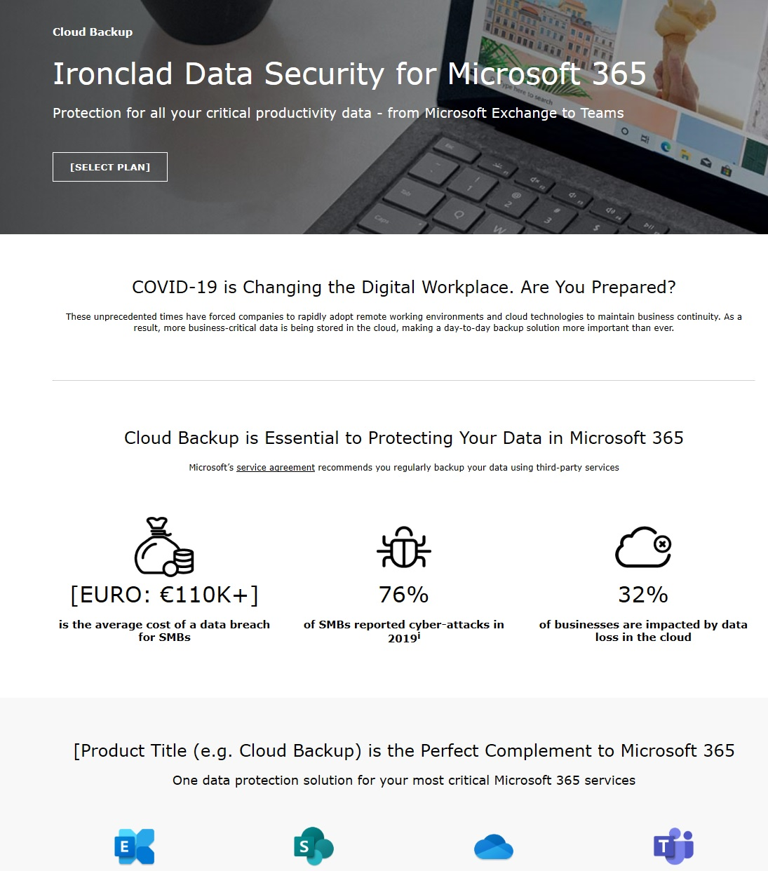 Cloud Backup Product Page